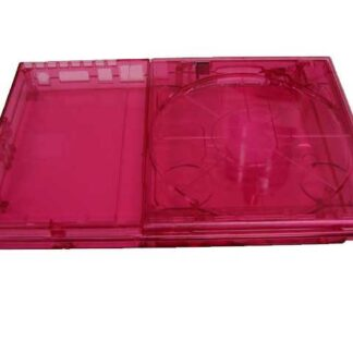 PS2 Slim GhostCase Kit - Clear Pinkish/Red